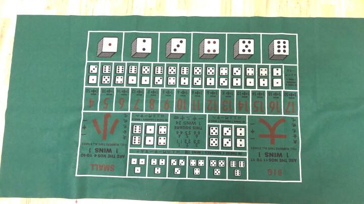 彤乐 押大小游戏桌布 骰宝骰子色子台布 赌比大小台尼 90*180厘米 英文版一张 晒单图