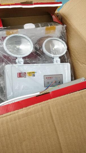 敏华新国标消防应急灯背面出线防火阻燃led双头灯应急照明灯消防应急灯具应急筒灯吸顶灯 E5W1142-应急90分钟 晒单图