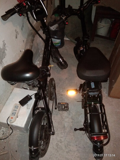 FIIDO 电动自行车折叠电动车锂电48V迷你成人便携14寸代驾电动车电瓶车 丛林黑150公里版本 晒单图