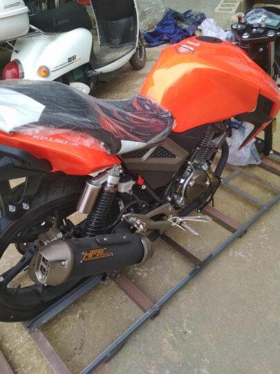 启典KIDEN摩托车 2017升级版KD150-H后碟刹款 单缸风冷150cc骑式车 亮橙(后碟刹)2017款 晒单图