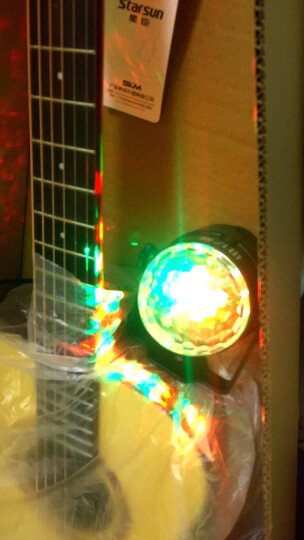 维亿曼 家用声控七彩灯球舞厅ktv舞台灯光魔球灯闪光灯酒吧蹦迪旋转灯 USB款 非遥控 送吸盘 晒单图