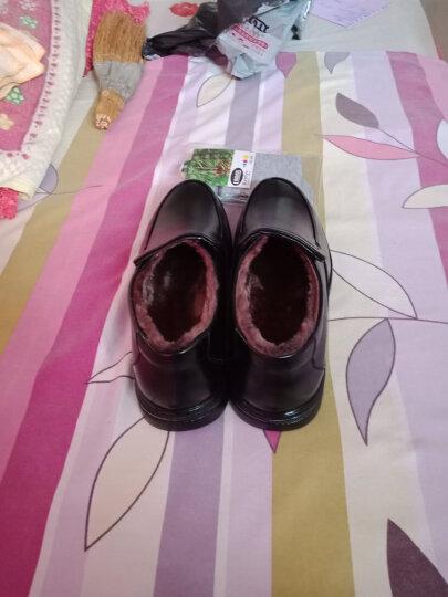 瑞蓓妮皮鞋商务休闲鞋夏季新款镂空皮鞋男中老年爸爸鞋大码老人凉鞋 99805黑色镂空 42 晒单图