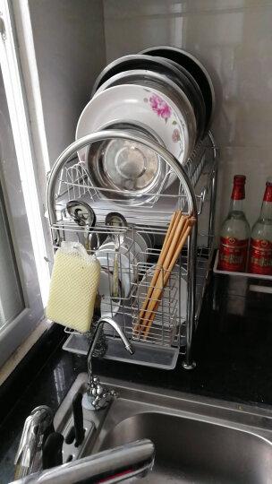 达派屋(DAPAI HOME) 304不锈钢碗碟架沥水架双层厨房置物架刀架筷子筒砧板架 双层碗架(杯架+砧板架) 晒单图