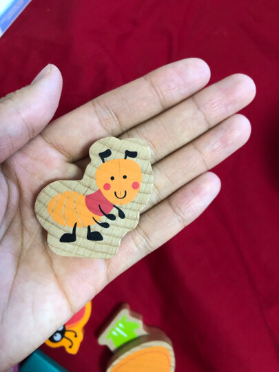 德国(Hape)儿童玩具宝宝拼搭早教启蒙益智玩具120粒果蔬积木玩具桶装男孩女孩节日生日礼物 1岁+ E8303 晒单图