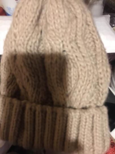 哲时 冬季男士针织毛线帽子保暖围脖户外骑车加厚加绒护耳套头帽MZ1305 灰色 均码适合55-60头围 晒单图