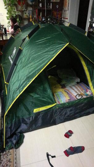骆驼(CAMEL)户外帐篷 双人 3-4人 野外露营防雨加厚帐篷 A5W3H8101,军绿,拉绳式4人双层 均码 晒单图
