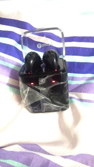 毕亚兹 蓝牙耳机运动双耳无线立体声苹果iPhoneX/8/7P/pods手机耳机迷你智能入耳式商务版 D18白色 晒单图