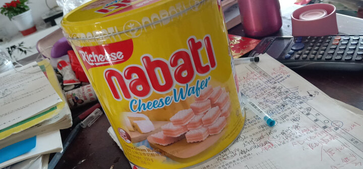 印尼进口 Nabati 丽芝士(Richeese)休闲零食 奶酪味 威化饼干 350g/罐 早餐下午茶 晒单图