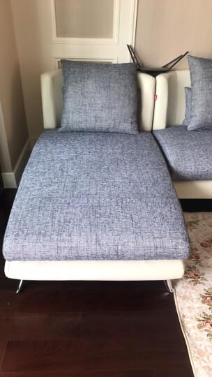 A家 布艺沙发 懒人欧美沙发美式布艺沙发组合沙发床单人三人组合沙发欧美客厅办公家具 黑色+灰色 单人+双人+贵妃 晒单图
