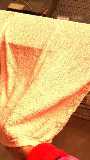 金号纯棉浴巾女素色男士柔软吸水纯色家庭大浴巾儿童毛巾套装 桔红色-提缎3件套浴巾+毛巾+方巾 140cm*70cm 晒单图