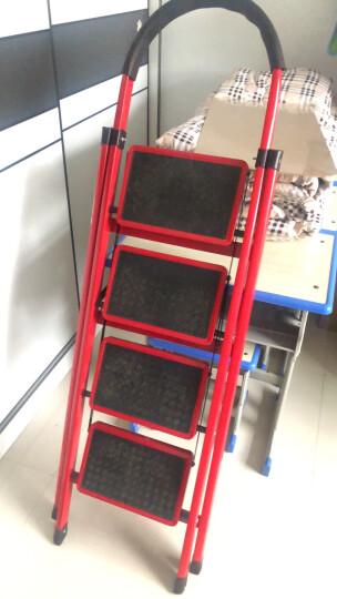 奇晟铭源 梯子家用梯折叠梯20cm加宽踏板防滑安全梯 轻便室内人字梯超市理货梯多功能置物架花架书架 LC-108 晒单图