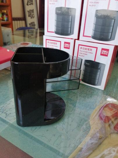 得力(deli)带笔筒桌面用品收纳盒 多功能组合办公盒 黑色 晒单图