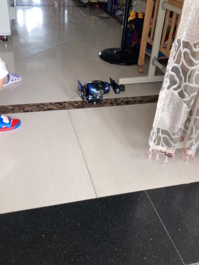 kidsdeer【60分钟续航】大型32CM遥控车汽车手势感应变形玩具机器人一键变形模型儿童男孩玩具 布加迪黑蓝(感应变形)送三块充电电池+变形玩具 晒单图