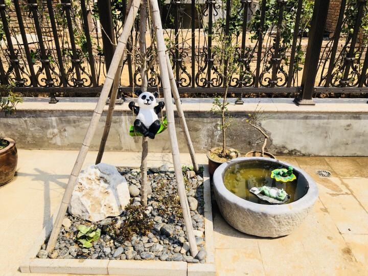 慧祥 花园装饰 庭院雕塑阳台摆设户外园林景观动物装饰品树脂工艺品仿真动物熊猫树熊考拉摆件 秋千熊猫 晒单图