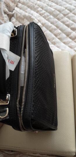 Guy Laroche 姬龙雪 女士牛皮黑色爆龙纹休闲时尚手拎斜挎包单肩女包 GS1820031-01 晒单图