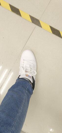特步板鞋男鞋2019秋季冬季防滑新款休闲鞋时尚滑板鞋运动鞋 白 41 晒单图