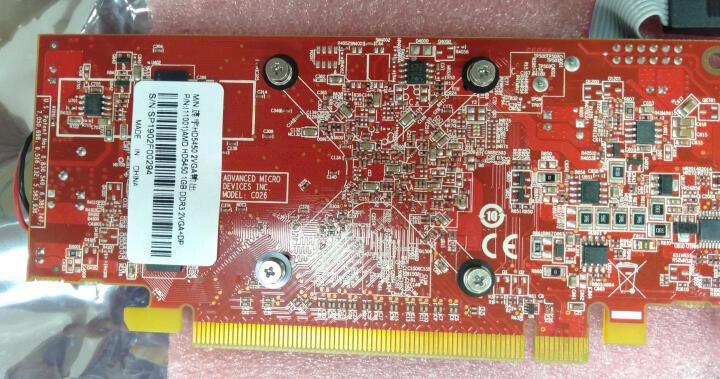 旌宇工控显卡双VGA原生接口2屏直出无需转接更稳定 2U红色 HD5450 2VGA 晒单图