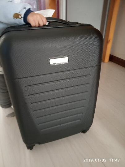 【防刮耐磨】香港GMP防刮拉杆箱万向轮行李箱男女士登机箱旅行箱20吋/24吋拉杆箱子 经典黑 20英寸-登机箱-偏小 晒单图