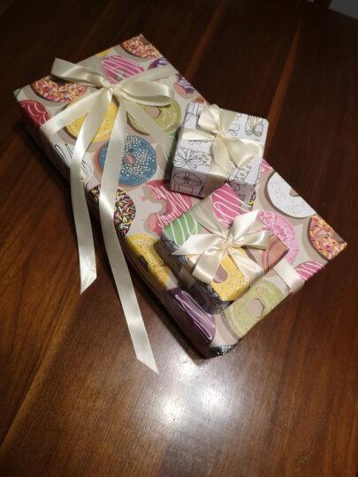 卡通花朵字母爱心条纹礼品包装纸 包装纸礼物生日回礼包装 商务送礼 送男女朋友闺蜜 13号包装纸甜甜圈款5张 晒单图