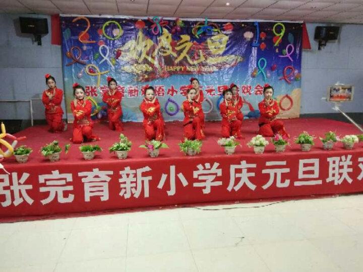 东北民族舞蹈凤凰秧歌服装女扇子舞腰鼓广场舞打鼓演出服 红色 XXL(170-175cm/3尺4) 晒单图