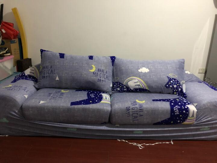 香舍丽人 沙发套罩全包弹力针织防滑老式组合真皮布艺贵妃沙发盖巾防尘罩 木马 1+2+3组合(单人+双人+三人) 晒单图