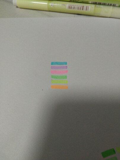 天卓 学生双头彩色荧光笔 记号笔6色/套荧光标记笔 混色6支 晒单图