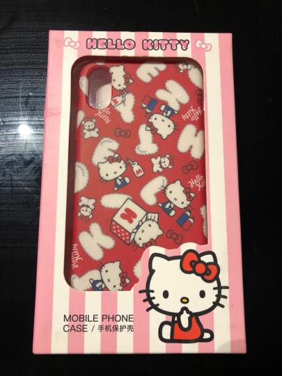 Hello Kitty 苹果iPhoneX手机壳卡通保护套 全包硅胶防摔软壳 棉花糖凯蒂猫*红色 晒单图