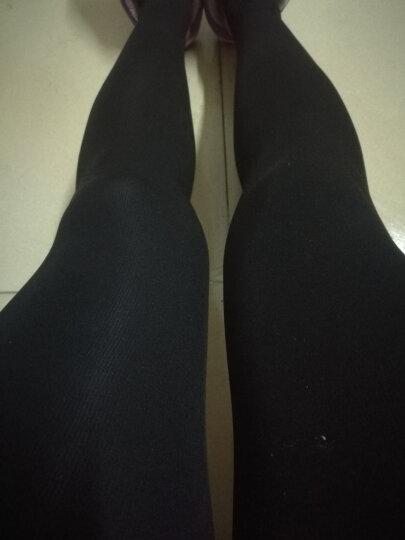 冰洁加绒加厚打底裤女秋冬款踩脚高腰 黑色 均码 晒单图