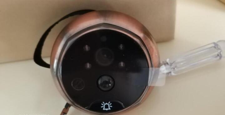 丹米尼(DANMIIN) wifi监控可视门铃猫眼门铃无线手机app可远程视频通话智能家居免打孔门铃 金色 晒单图
