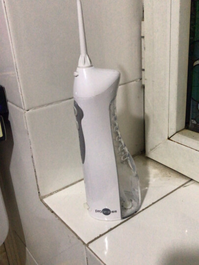 博皓(prooral)冲牙器洗牙器水牙线 便携式设计 牙齿冲洗器口腔清洁器正畸 橙色 晒单图