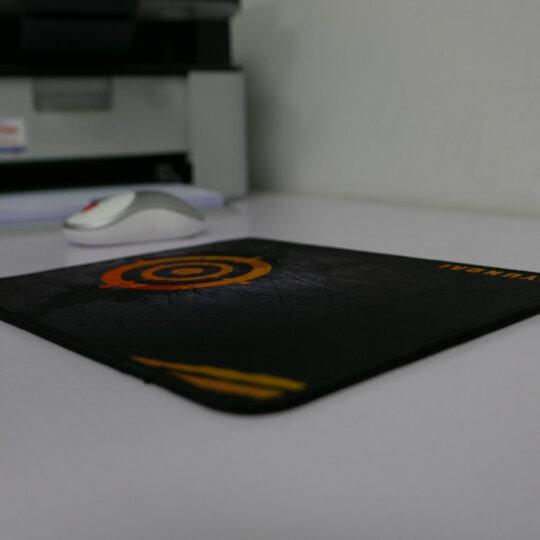 现代(HYUNDAI) 鼠标垫幻影游戏鼠标垫办公鼠标垫桌垫 锁边可水洗鼠标垫HY-H6黑绿 晒单图