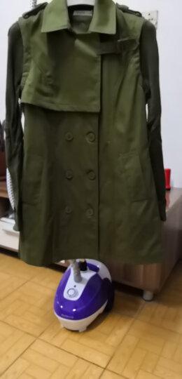 莎蕾雅2019秋冬装韩版双排扣中长款风衣 女888 黑色 M 晒单图