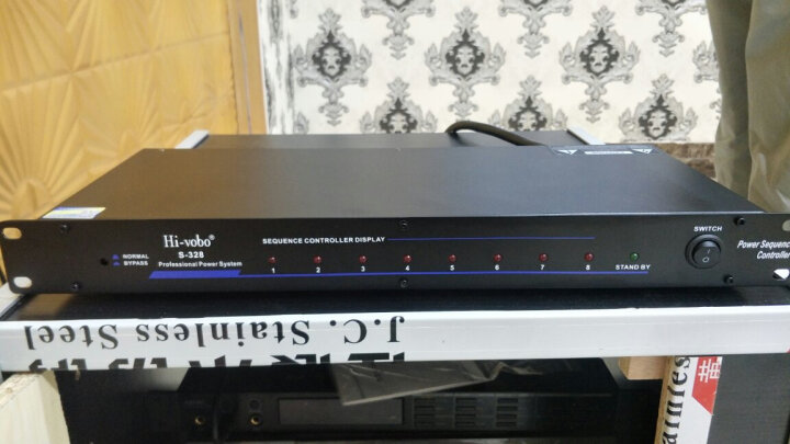 Hi-vobo 嗨威宝S328专业8路电源时序器带显示多功能时序器舞台会议控制器工程电源控制器管理器 S328专业八路时序器 晒单图