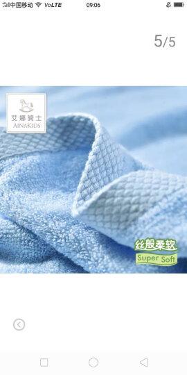 艾娜骑士 婴儿浴巾竹纤维新生儿大浴巾宝宝竹纤维澡巾 紫色70*140 晒单图