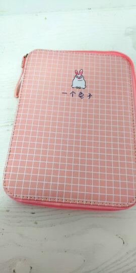 安蔻(ANGOO)大容量笔袋铅笔盒韩版创意文具盒 韩国简约男女学生笔袋ipad手拿包 学习用品 一个兔子 晒单图