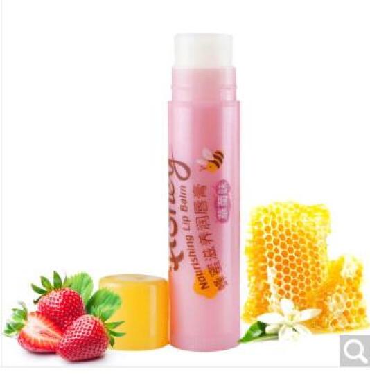 美加净(MAXAM)蜂蜜滋养润唇膏(草莓味)4g(无色持久补水保湿滋润) 晒单图