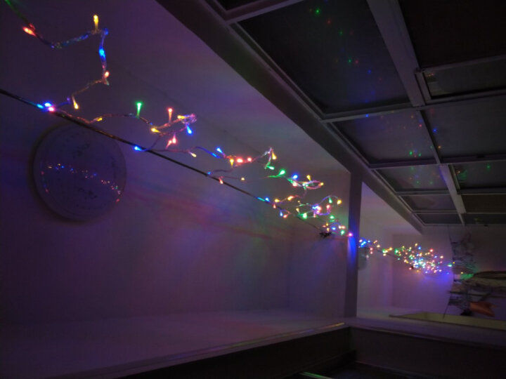 京唐 五角星装饰窗帘LED小彩灯闪灯串灯 过年生日用浪漫星星灯彩灯 暖色 6个大星星6个小星星 晒单图