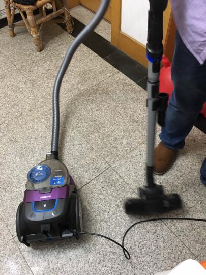 飞利浦(PHILIPS)卧式吸尘器家用大功率大吸力无尘袋除螨吸尘器 红色 晒单图