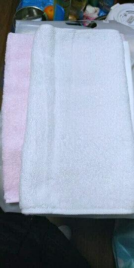 佳佰 纯棉毛巾 两条装 手巾 面巾 洗脸巾 超柔吸水速干素雅(32*70cm)(粉、白) 晒单图