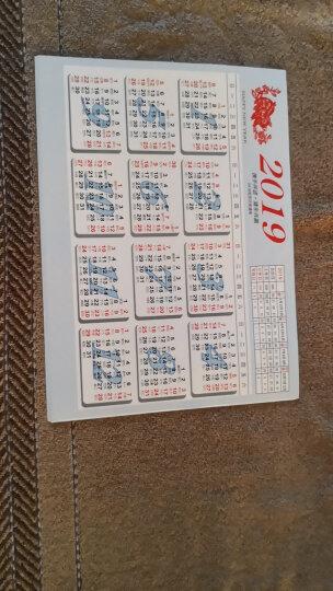 斯图 年历片2019年 黄历 A4大 单张年历 台历  年历纸 月历纸 单张日历 年历表 年历本 B100张 晒单图