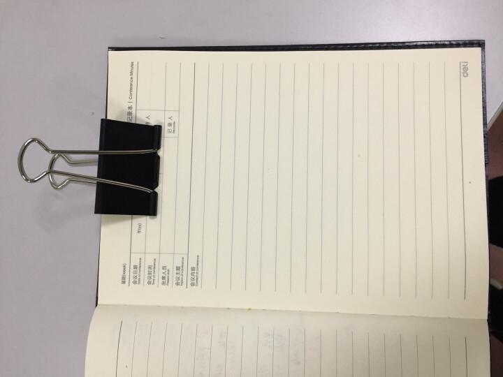 齐心(COMIX) 12只50mm黑色长尾票夹 金属票据夹燕尾夹铁夹子 大号 B3625 晒单图