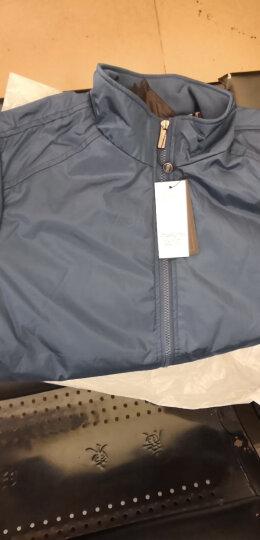 南极人夹克男2019春秋季新款外套男士休闲加绒夹克衫男 上衣男装 加绒黑蓝 2XL/180适合140到155斤 晒单图