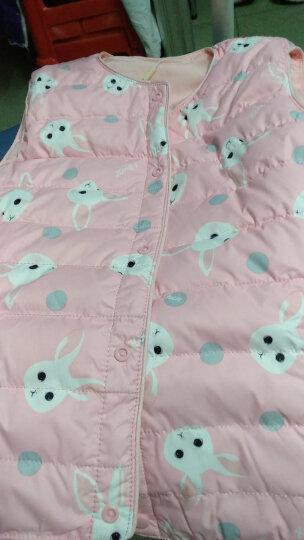 南极人(nanjiren)儿童羽绒马甲秋冬新款女童卡通马甲可爱中大童羽绒短款背心 灰色兔子 120cm适合身高100cm左右 晒单图