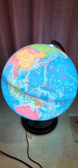 得力(deli) 发光旋转地球仪 Φ32cm木座金属架 办公家居摆设 3036 晒单图