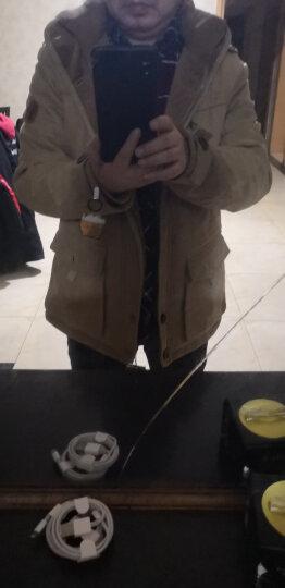 JEEP吉普 棉衣男2018新款男士棉服中长款加绒加厚保暖多袋可卸帽棉袄男 卡其色. XL 晒单图