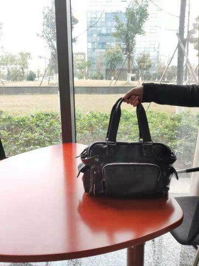 麦哲(MCGOR)男包单肩包男士休闲包韩版斜挎手提时尚潮流包A8329MG 升级版(黑色小号) 晒单图