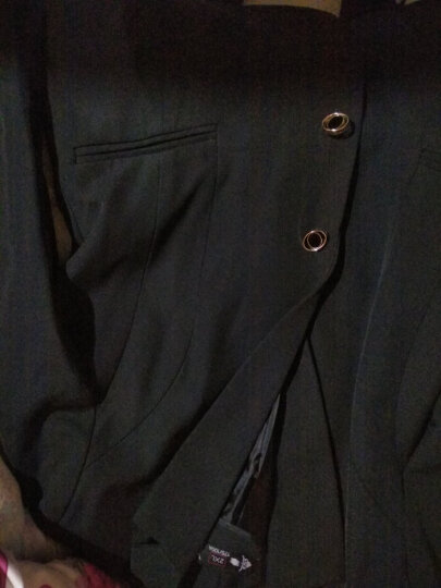 佳昭职业装女装套装小西装女正装修身外套上衣长袖女士面试工装酒店工作服马甲套裙西服2020新款春夏 黑色外套+马甲+衬衫+裤子+半裙 XL 晒单图