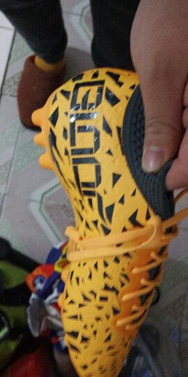 特步男鞋足球鞋秋冬季新品成人人造草地专业AG钉跑鞋轻便大底皮足训练比赛球鞋DX 黄色 40 晒单图