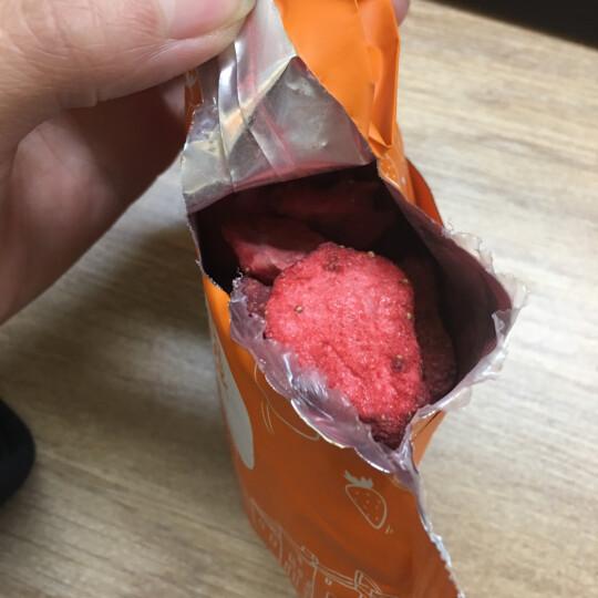 雨果小镇 酸甜酥脆草莓干 休闲零食 冻干草莓脆45g/盒 晒单图
