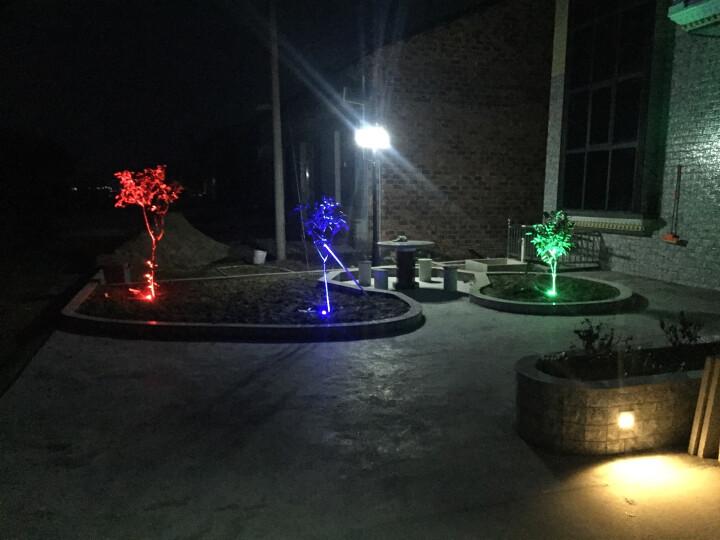 千象LED瓦楞灯月亮灯琉璃瓦凉亭屋顶射灯户外防水3w6w 6W红/绿/蓝3选1 双头出线 晒单图